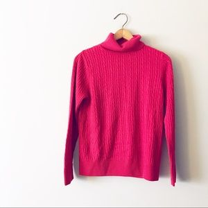 Croft & Barrow red Cable Knit Turtleneck Sweater